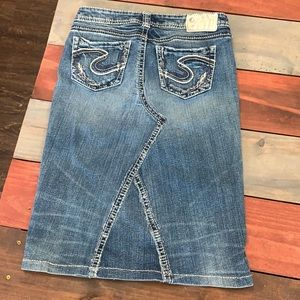 3 FOR $20 Silver AIKO Jean SKIRT Size 26